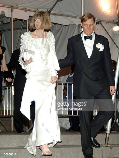 Anna Wintour and guest during 'Chanel' Costume Institute Gala at The Metropolitan Museum of Art Departures at The Metropolitan Museum of Art in New...