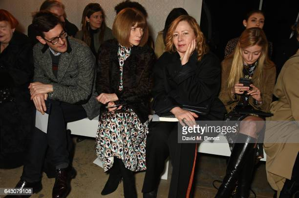 Anna Wintour and guests attend the ERDEM show during the London Fashion Week February 2017 collections at the Old Selfridges Hotel on February 20...
