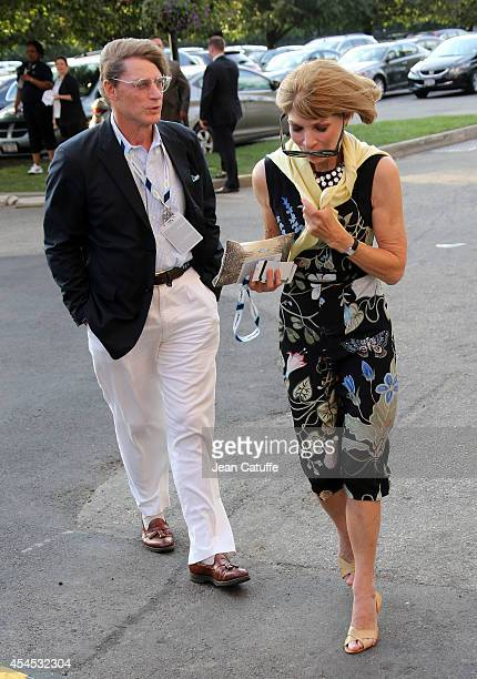 Anna Wintour and her boyfriend Shelby Bryan attend Day 9 of the 2014 US Open at USTA Billie Jean King National Tennis Center on September 2 2014 in...
