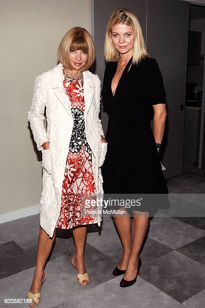 Anna Wintour and Jemma Kidd attend ANDRE LEON TALLEY Toasts JENNIFER HUDSON's Debut Album at Morgans Penthouse on September 9 2008 in New York City