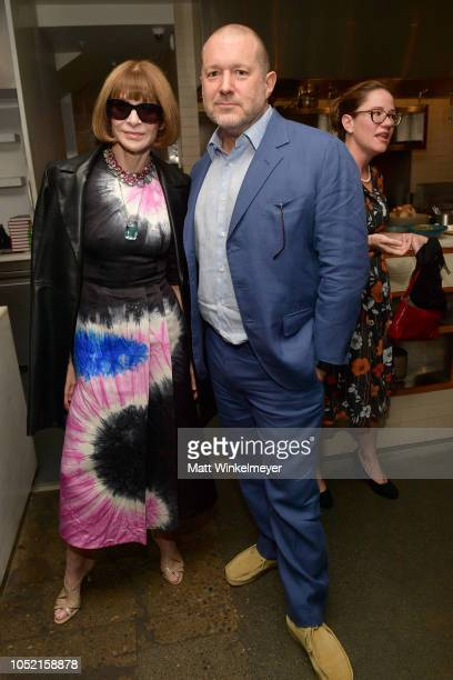 Anna Wintour and Jony Ive attend VIP Dinner For WIRED's 25th Anniversary Hosted By Nicholas Thompson And Anna Wintour at Tartine Manufactory on...