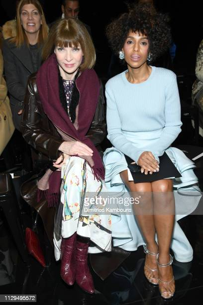 Anna Wintour and Kerry Washington attend the Marc Jacobs Fall 2019 Show at Park Avenue Armory on February 13, 2019 in New York City.