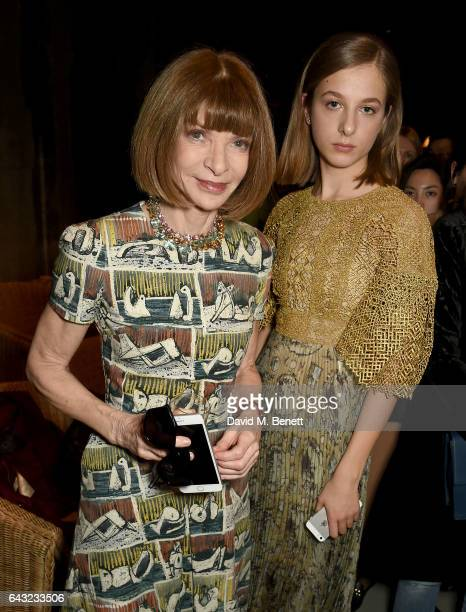Anna Wintour attends the Burberry February 2017 Show during London Fashion Week February 2017 at Makers House on February 20 2017 in London England