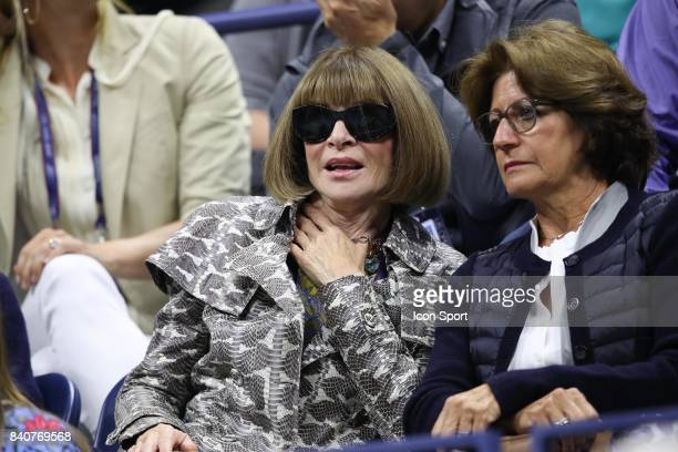 Anna Wintour and Lynette Federer on Day Two of the Us Open 2017 at USTA Billie Jean King National Tennis Center on August 29 2017 in New York City