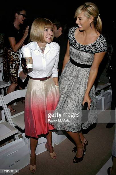 Anna Wintour and Maria Sharapova attend Peter Som Spring 2009 Fashion Show at Promenade on September 8 2008 in New York City