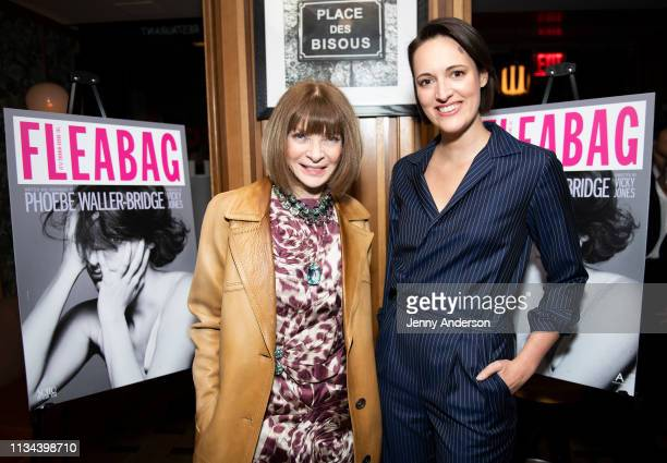 Anna Wintour and Phoebe WallerBridge attend 'Fleabag' opening night party at Bistrot Leo on March 7 2019 in New York City