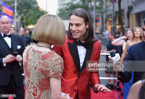 Anna Wintour and Producer Jordan Roth attend the 2017 Tony Awards at Radio City Music Hall on June 11 2017 in New York City
