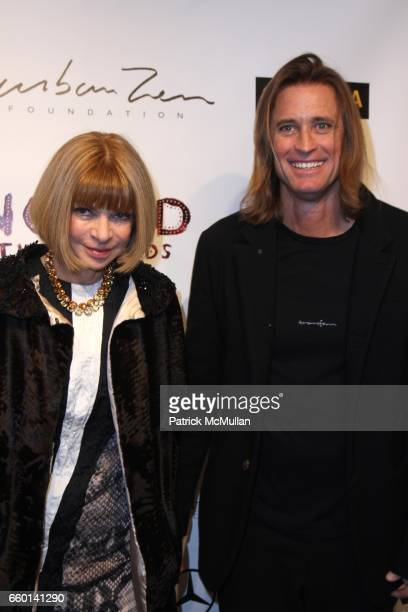 Anna Wintour and Russell James attend LISA FOX and THE HONORABLE JOHN OLSON AO AUSTRALIAN CONSUL GENERAL Present the NOMAD TWO WORLDS Preview Exhibit...