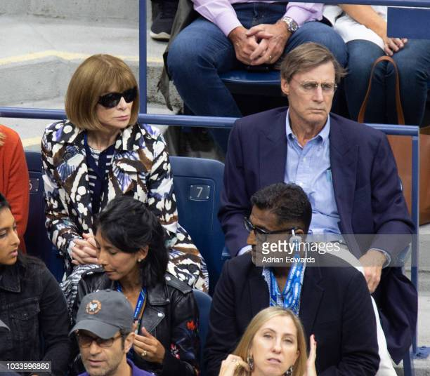 Anna Wintour and Shelby Bryan at Day 14 of the US Open held at the USTA Tennis Center on September 9 2018 in New York City