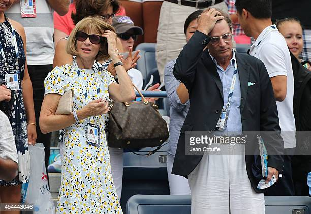 Anna Wintour and Shelby Bryan attend Day 7 of the 2014 US Open at USTA Billie Jean King National Tennis Center on August 31 2014 in the Flushing...