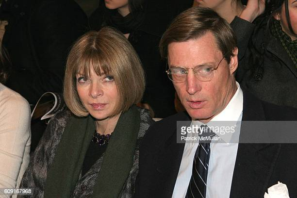 Anna Wintour and Shelby Bryan attend Max Azria Fall 2007 Collection at The Tent on February 5 2007 in New York City