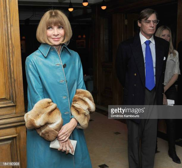 Anna Wintour and Shelby Bryan attend The Cinema Society with Vanity Fair Richard Mille screening of DreamWorks Pictures' The Fifth Estate After Party...