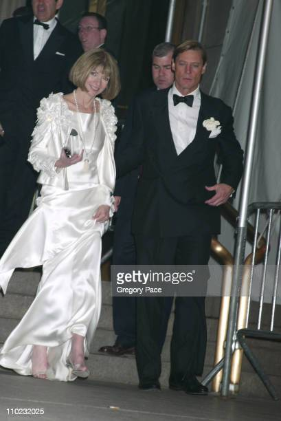 Anna Wintour and Shelby Bryant during The Costume Institute's Gala Celebrating Chanel Departures at The Metropolitan Museum of Art in New York City...