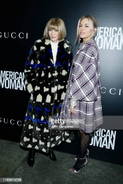 Anna Wintour and Sienna Miller attend the screening of American Woman at Metrograph on December 12 2019 in New York City