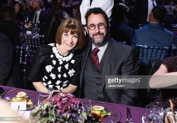 Anna Wintour and Tony Kushner attend The 12th Annual Golden Heart Awards at Spring Studios on October 16 2018 in New York City
