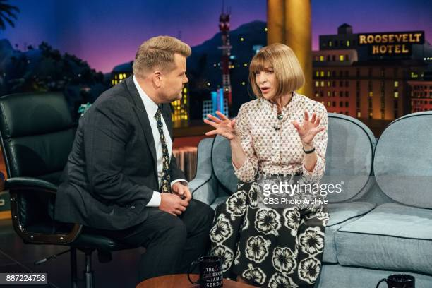 Anna Wintour and Zac Posen chat with James Corden during 'The Late Late Show with James Corden' Wednesday October 25 2017 On The CBS Television...