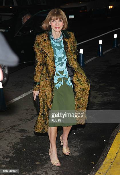 Anna Wintour arrives at The Ninth Annual CFDA/Vogue Fashion Fund Awards at 548 West 22nd Street on November 13 2012 in New York City