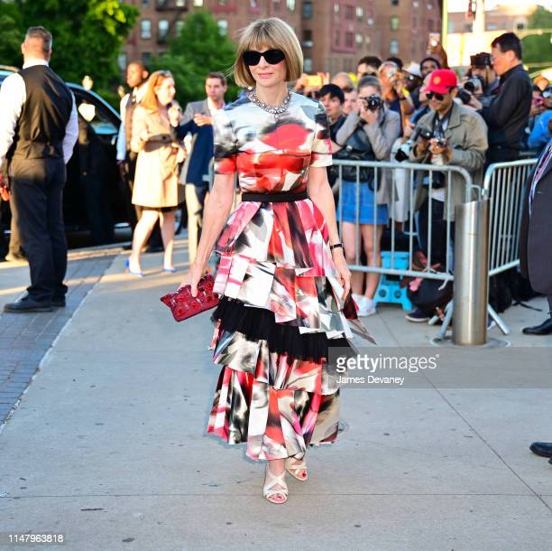 Anna Wintour arrives to the 2019 CFDA Fashion Awards at Brooklyn Museum on June 3, 2019 in New York City.