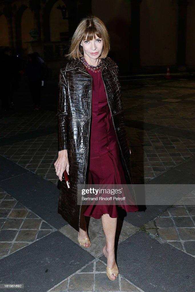 Lanvin : Arrivals - Paris Fashion Week Womenswear  Spring/Summer 2014 : News Photo