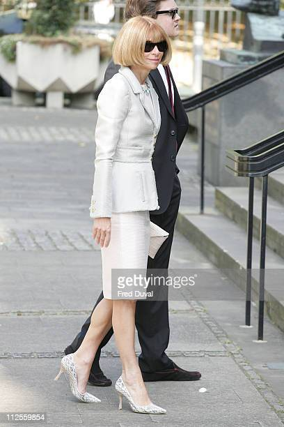 Anna Wintour arriving at the Isabella Blow Memorial Service at the Guards Chapel on September 18, 2007 in London, England.