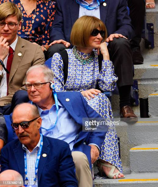 Anna Wintour at 2019 US Open Final on September 08, 2019 in New York City.