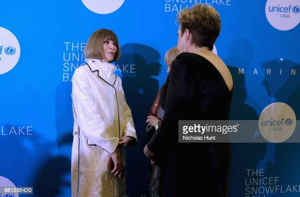 Anna Wintour attends 13th Annual UNICEF Snowflake Ball 2017 at Cipriani Wall Street on November 28 2017 in New York City