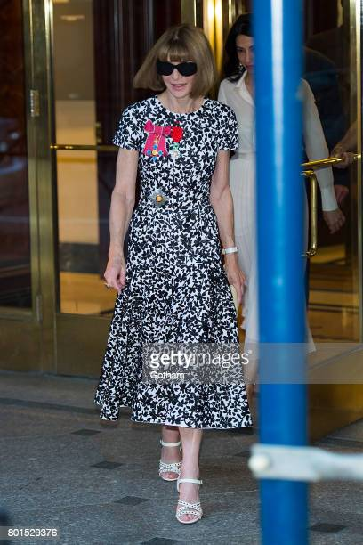Anna Wintour attends a dinner in honor of her being appointed a Dame Commander of the Order of the British Empire on June 26 2017 in New York City