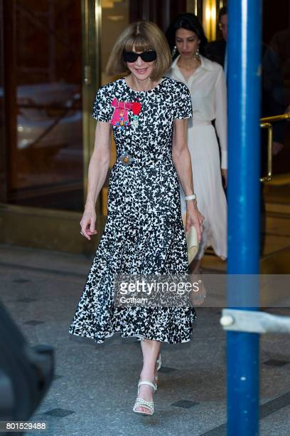 Anna Wintour attends a dinner in honor of her being appointed a Dame Commander of the Order of the British Empire on June 26, 2017 in New York City.