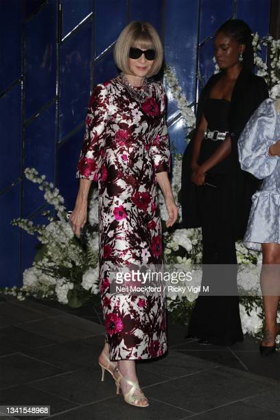 Anna Wintour attends an intimate dinner and party hosted by British Vogue and Tiffany & Co. To celebrate Fashion and Film during London Fashion Week...