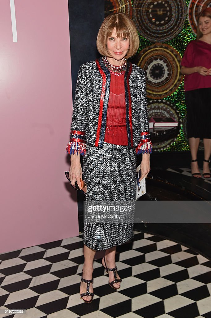 Anna Wintour attends as Marc Jacobs & Benedikt Taschen celebrate NAOMI at The Diamond Horseshoe on April 7, 2016 in New York City.