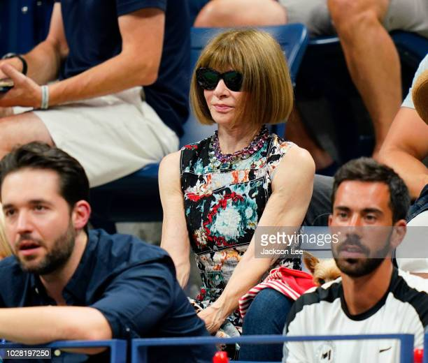 Anna Wintour attends Day 11 of the 2018 US Open on September 6, 2018 in New York City.