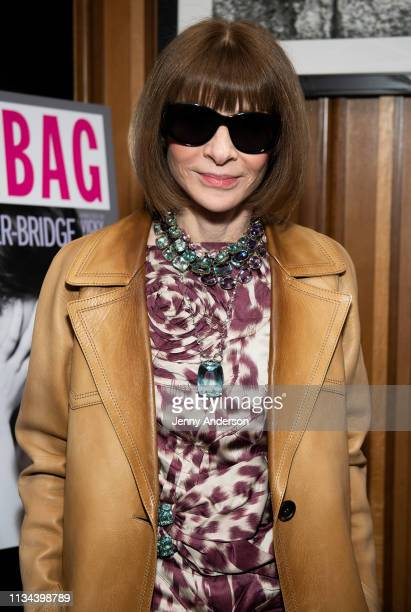 Anna Wintour attends 'Fleabag' opening night party at Bistrot Leo on March 7 2019 in New York City