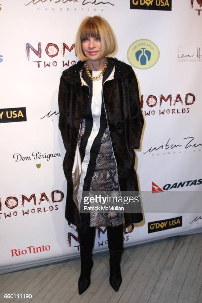 Anna Wintour attends LISA FOX and THE HONORABLE JOHN OLSON AO AUSTRALIAN CONSUL GENERAL Present the NOMAD TWO WORLDS Preview Exhibit Hosted by HUGH...