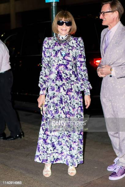 Anna Wintour attends Marc Jacobs and Char DeFrancesco's wedding reception at The Grill in Midtown on April 06 2019 in New York City