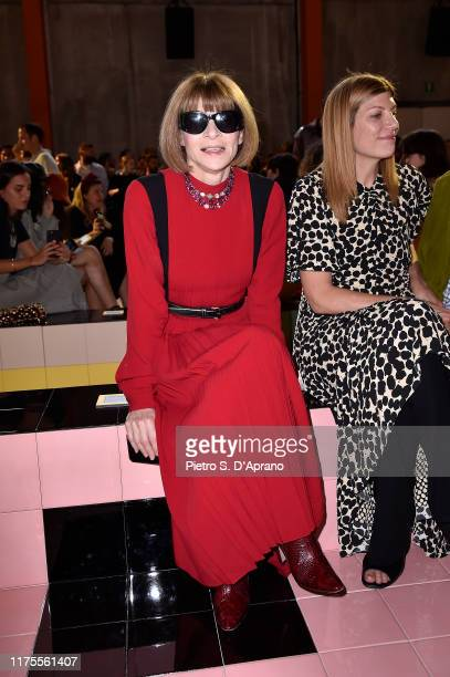 Anna Wintour attends Prada Spring/Summer 2020 Womenswear Fashion Show on September 18 2019 in Milan Italy