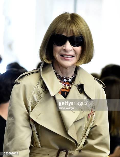 Anna Wintour attends Proenza Schouler Front Row September 2018 New York Fashion Week at 30 Wall Street on September 10 2018 in New York City