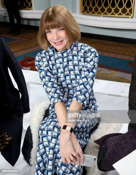 Anna Wintour attends Sies Marjan during New York Fashion Week on February 12 2017 in New York City