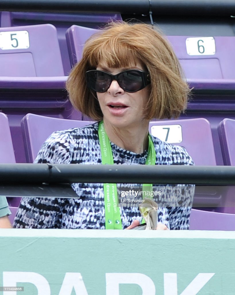 Anna Wintour attends Sony Ericsson Open at Crandon Park Tennis Center on April 1, 2011 in Key Biscayne, Florida.