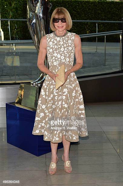 Anna Wintour attends the 2014 CFDA fashion awards at Alice Tully Hall, Lincoln Center on June 2, 2014 in New York City.
