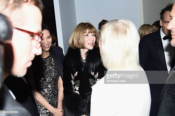 Anna Wintour attends the 2016 Guggenheim International Gala Made Possible By Dior at Solomon R Guggenheim Museum on November 17 2016 in New York City