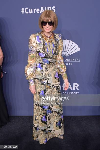 Anna Wintour attends the 2020 amfAR New York Gala on February 05, 2020 in New York City.