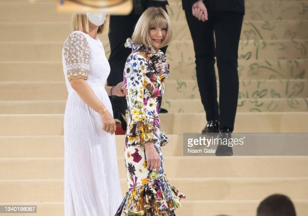 Anna Wintour attends the 2021 Met Gala celebrating 'In America: A Lexicon of Fashion' at The Metropolitan Museum of Art on September 13, 2021 in New...