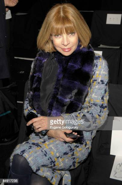Anna Wintour attends the 3.1 Phillip Lim Fall 2009 during Mercedes-Benz Fashion Week at The Tent in Bryant Park on February 18, 2009 in New York City.