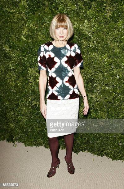 Anna Wintour attends the 5th Anniversary of the CFDA/Vogue Fashion Fund at Skylight Studios on November 17, 2008 in New York City.