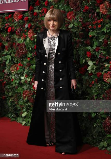 Anna Wintour attends the 65th Evening Standard Theatre Awards at the London Coliseum on November 24 2019 in London England