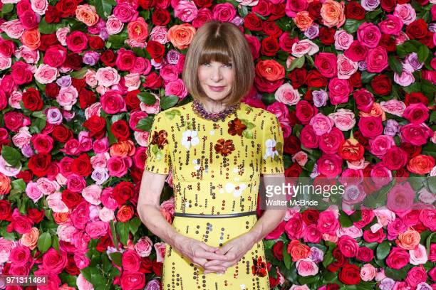 Anna Wintour attends the 72nd Annual Tony Awards at Radio City Music Hall on June 10 2018 in New York City