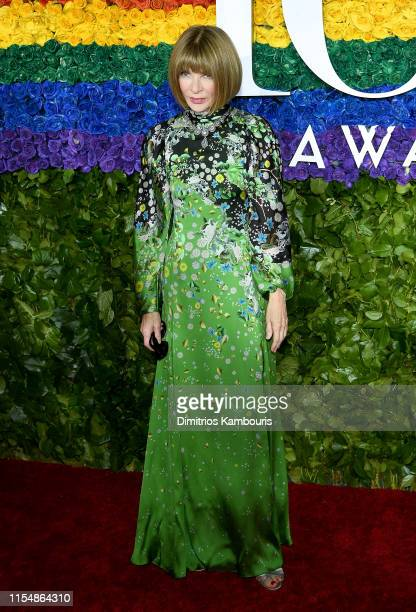 Anna Wintour attends the 73rd Annual Tony Awards at Radio City Music Hall on June 09, 2019 in New York City.
