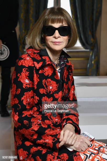 Anna Wintour attends the Balmain show as part of the Paris Fashion Week Womenswear Fall/Winter 2018/2019 on March 2 2018 in Paris France