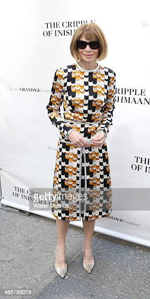 """Anna Wintour attends the Broadway opening night of """"The Cripple Of Inishmaan"""" at the Cort Theatre on April 20, 2014 in New York City."""
