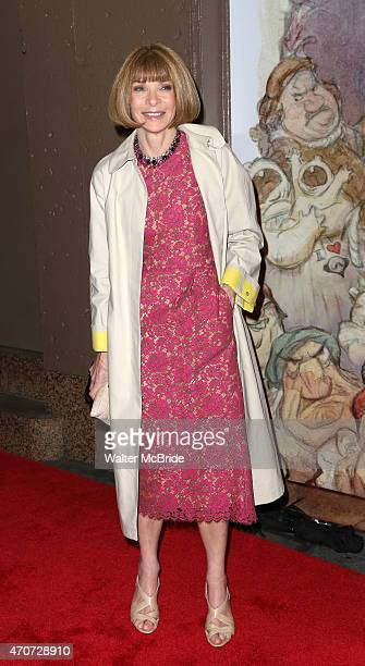 Anna Wintour attends the Broadway Opening Night Performance of 'Something Rotten' at the St James Theatre on April 22 2015 in New York City